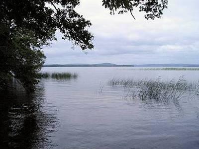 Östra Ivösjön från Bromölla, Ivöklack i fonden